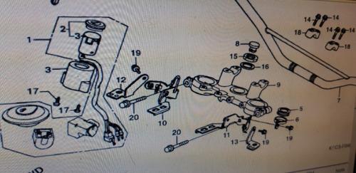 mola da cebolinha do freio traseiro xl 125