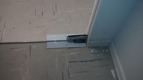 mola de piso/chão hidraulica p/ portas de vidro modelo p310