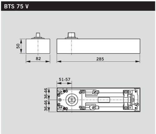 mola hidraulica de piso bts75 bts 75 dorma