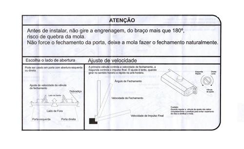 mola p/ portas aérea hidráulica - portas 25 a 45kg força 1