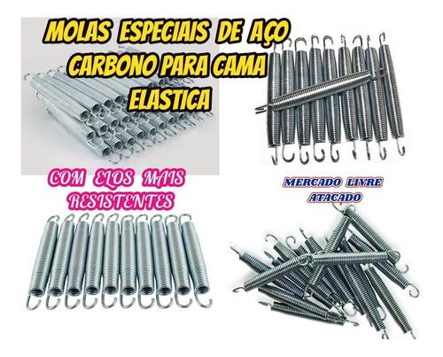 molas especial de aço carbono p/cama elastica 14 cm kit c/10