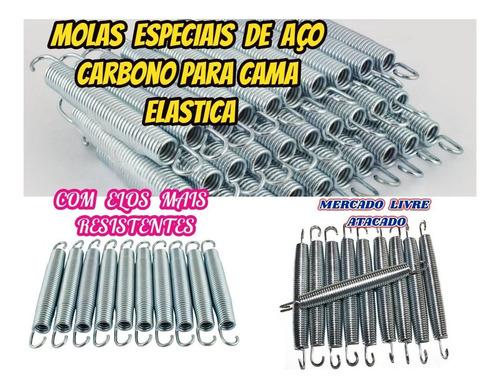 molas especial de aço carbono p/cama elastica 18cm kit c/10