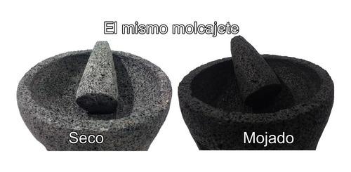 molcajete mexicano no.8 piedra volcánica negra