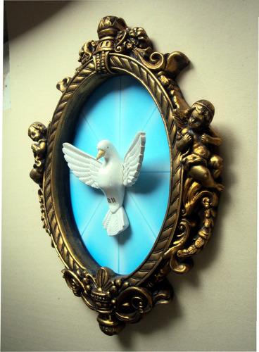 molddura romana com pombo divino espírito santo.