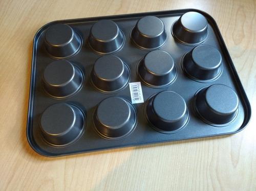 molde 12 ponquesitos cupcakes #10 #11 reposteria