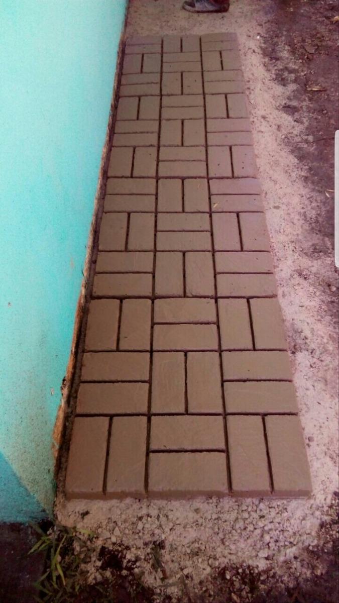 Molde 60x60cm tipo adoquin piso concreto original for Donde buscar piso
