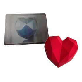 Molde Acetato Corazón Prisma Grande Para Chocolates