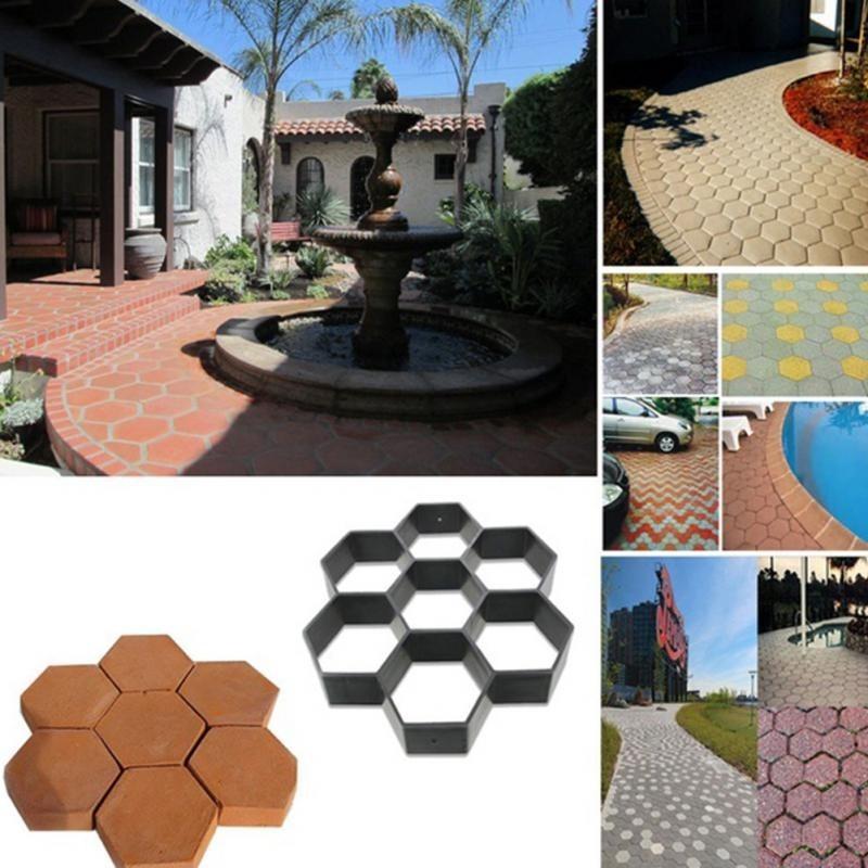 Molde adoquin piedra losa ladrillo pavimento camino jardin en mercado libre - Jardines con adoquin ...