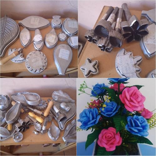 molde alumínio batido para flores em eva