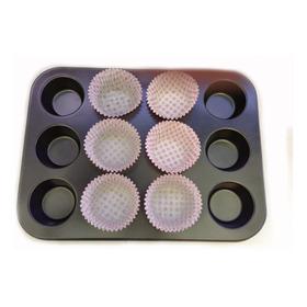 Molde Antiadherente 12 Cupcakes + Regalo