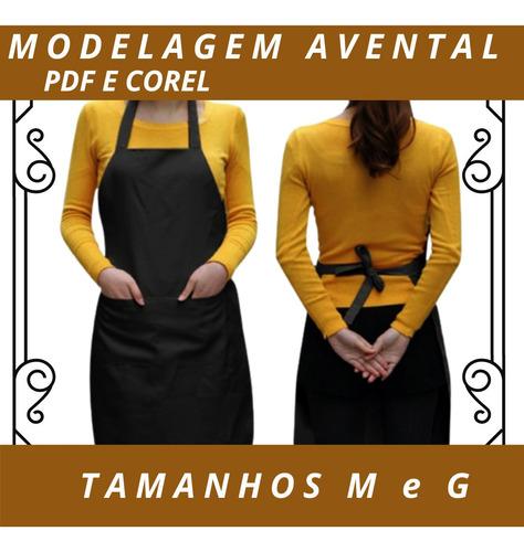 molde avental de cozinha m/g