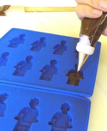 molde bandeja recipiente lego figura/muñeco dulce/chocolate