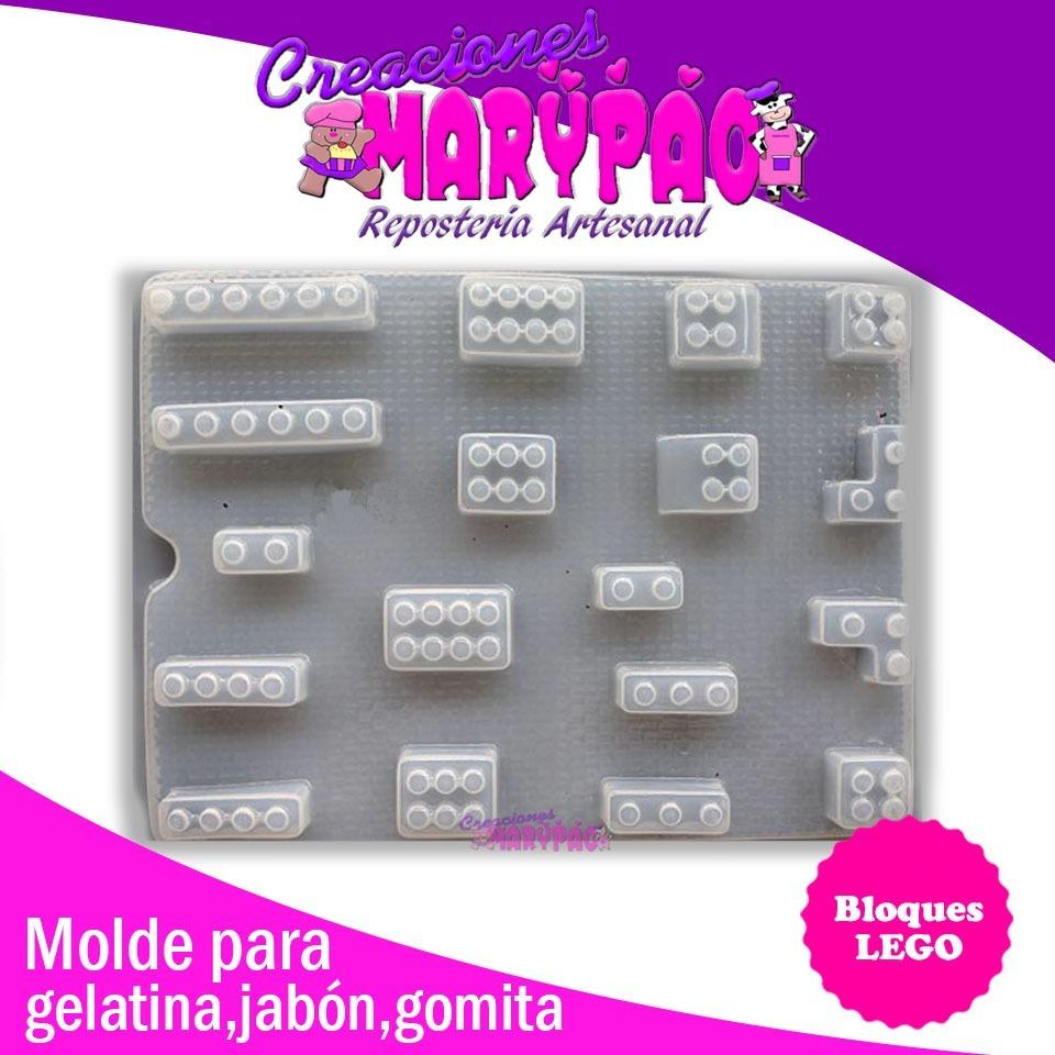 60f35e0f0ef0 Molde Bloques Lego Para Jabón Chocolate Gomita Gelatina
