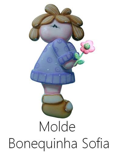 molde bonequinha sofia