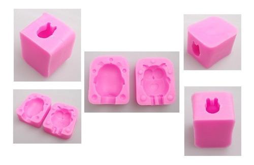 molde buho 3d silicón jabones velas fig resina horno congela