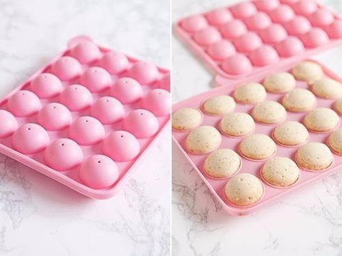 molde cake pop de silicona - 20 unidades