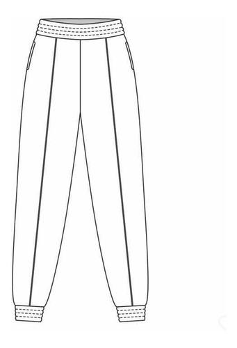 molde calça jogger feminina com elástico