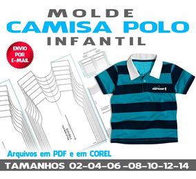 776f85f04933 Molde Camisa Polo Infantil
