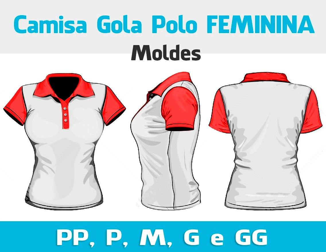 molde camisa polo masculina feminina - costura e sublimação. Carregando  zoom. 5f70a010a72b6