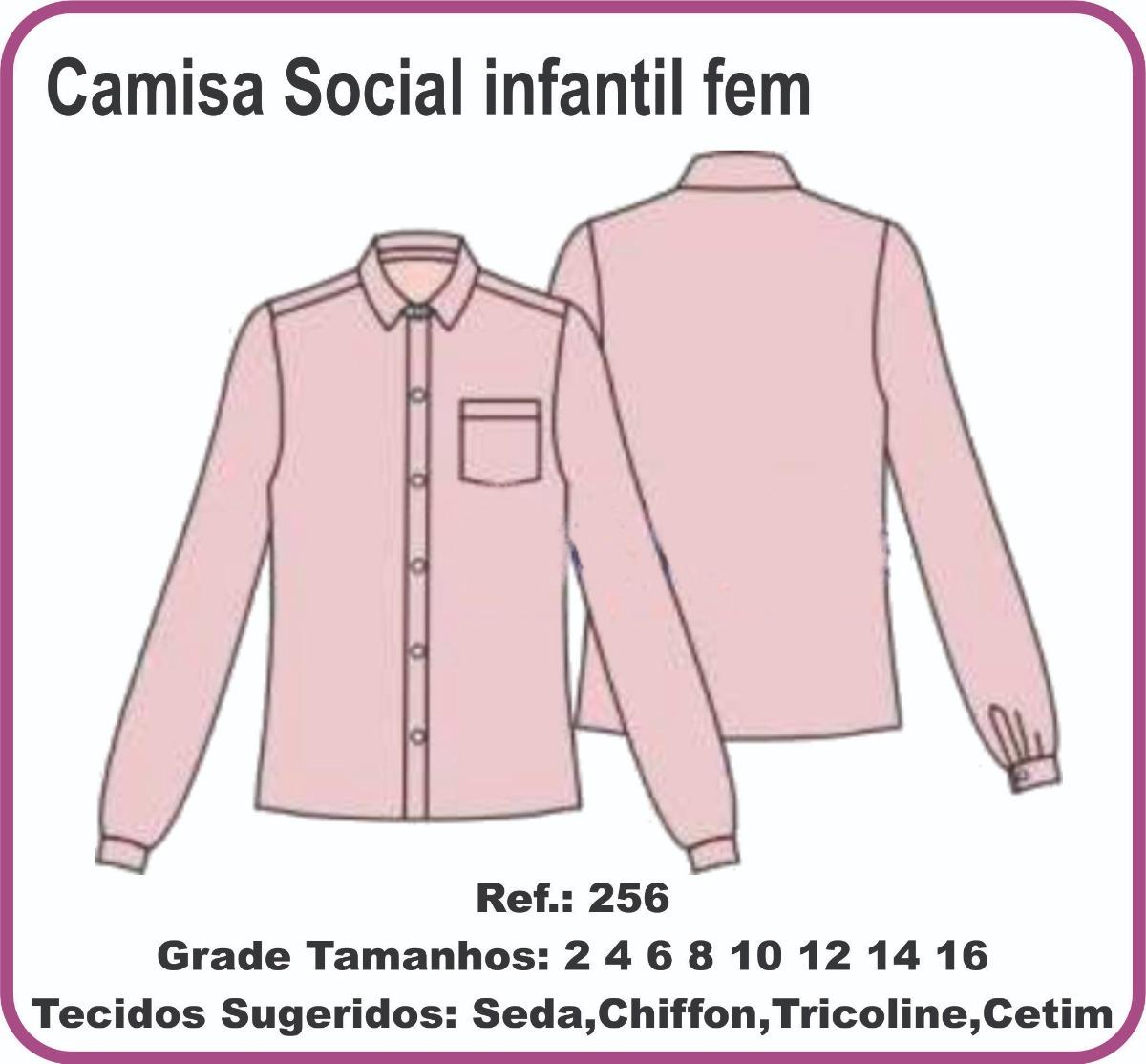 molde camisa social infantil fem 256. Carregando zoom. 38570733c2e95