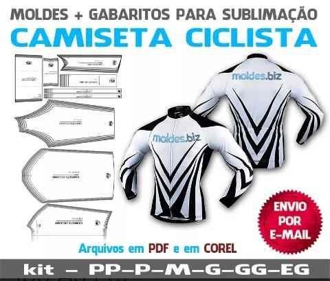 molde camiseta ciclista do pp ao extg corel e pdf por email