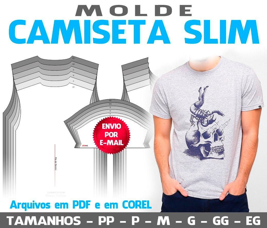 609948993688b molde camiseta slim - em pdf e em corel. Carregando zoom.