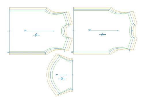 molde camisetas para uniformes envio fisico, corel ou pdf