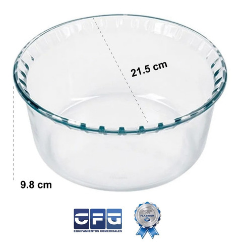 molde compotera soufflé marinex vidrio templado 2,4 l grande