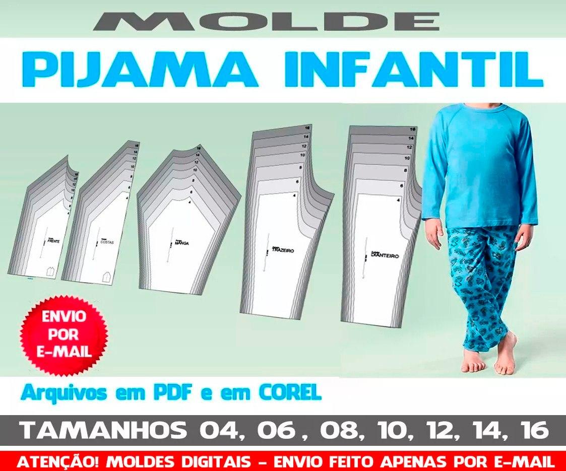 Molde Conjunto Pijama Infantil R 22 90 Em Mercado Livre