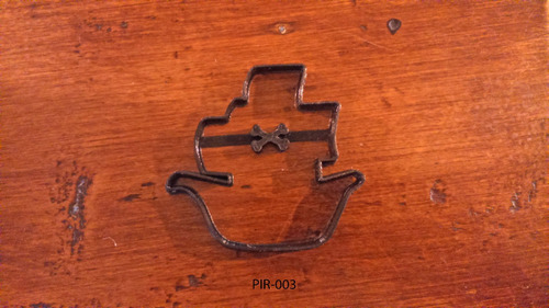 molde cortante galletitas pirata barco espada bandera 8cm