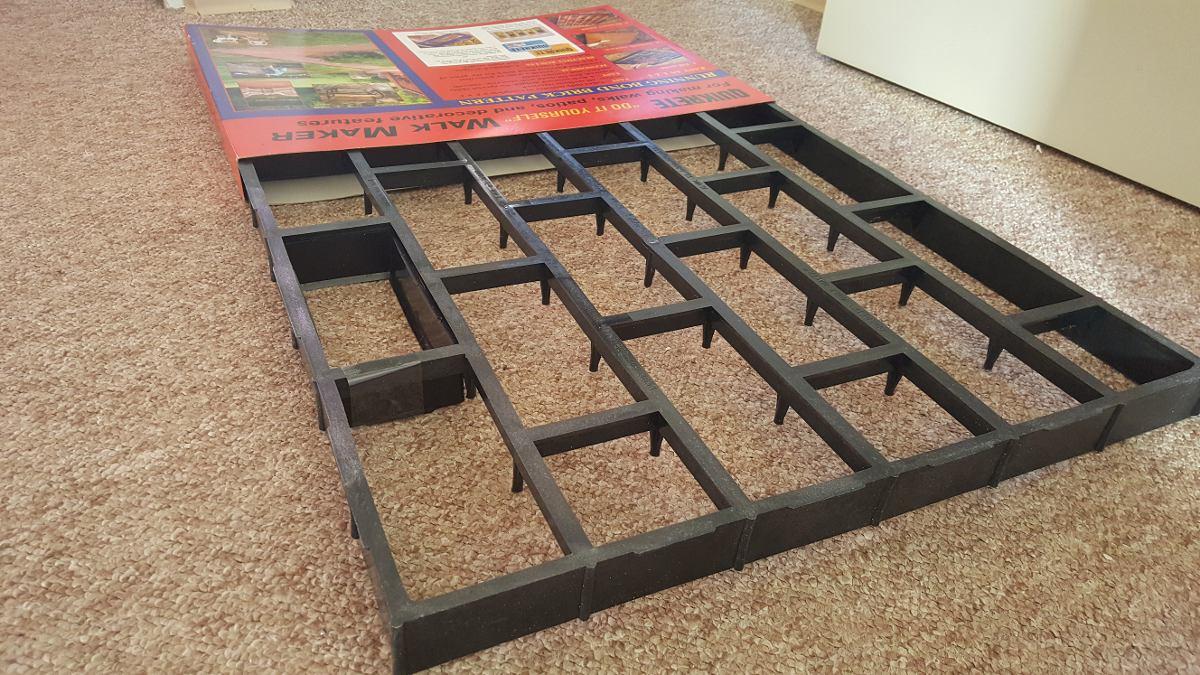 Molde de dise o tipo ladrillo para piso concreto for Cemento estampado precio