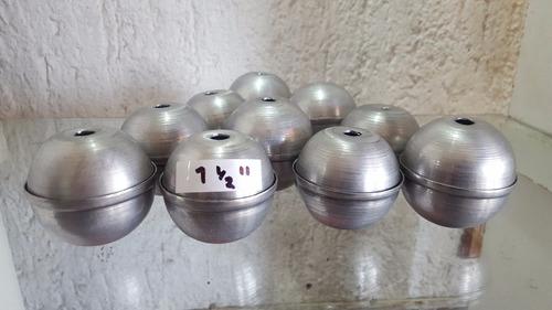 molde de esfera aluminio..1.5(pugadas) para velas(10piezas)