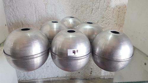 molde de esfera aluminio..4 (pugadas) para velas(6 piezas)