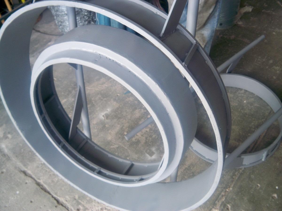 Molde de fierro p elaborar brocales de concreto envio for Precio del mercado de concreto encerado