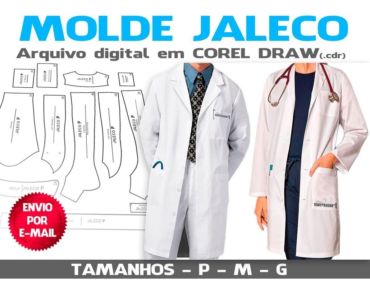 Molde De Jaleco Envio Por E Mail R 18 99 Em Mercado Livre