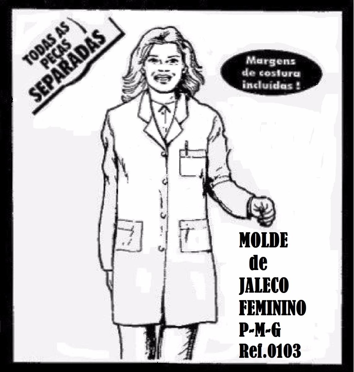 Molde De Jaleco Feminino P M G R 60 00 Em Mercado Livre