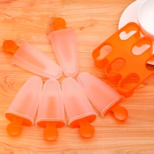 molde de plastico para paletas de hielo naranja h3234