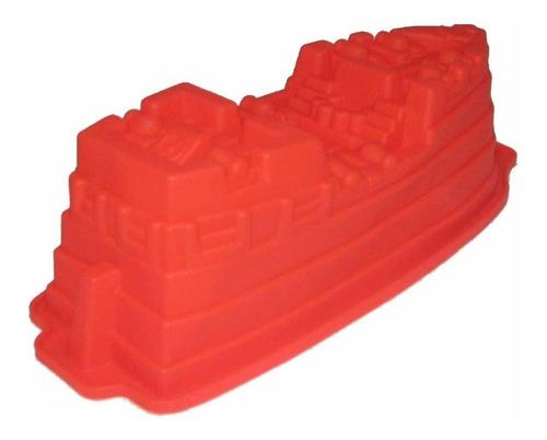 molde de silicon barco piratagigante torta gelatina quesillo