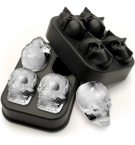 molde de silicón calavera - craneo - hielo cocina repostería bebidas