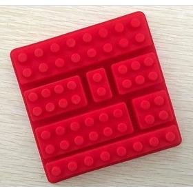 Molde De Silicón Con Figuras De Bloques De Lego