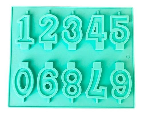 molde de silicon de numeros para hacer velas de cumpleaños