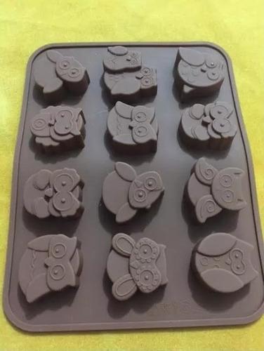 molde de silicon en forma de buhos # 3