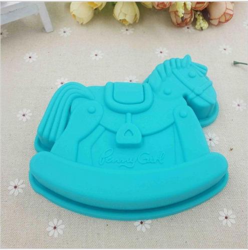 molde de silicon en forma de caballo para baby shower