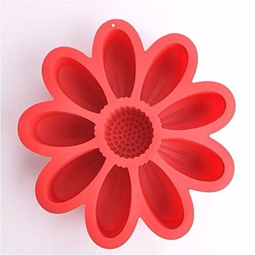 molde de silicon flor gigante para tortas, gelatinas y mas