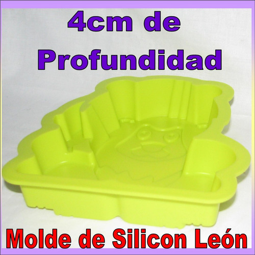 molde de silicon leon para mini ponque quesillo gelatina etc