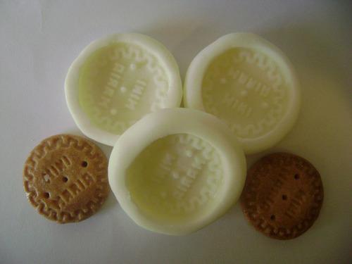 molde de silicon mini galleta maría