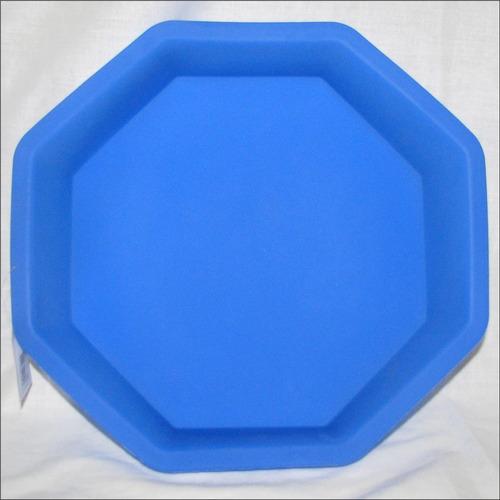 molde de silicon octagono torta quesillo gelatina 27 x 6,5cm