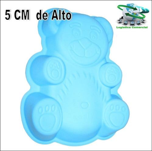 molde de silicon oso osito feliz torta gelatina quesillo