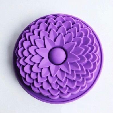 molde de silicon para gelatina torta quesillo flor gigante