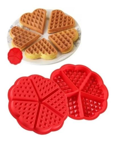 molde de silicon para hacer wafles (20cm) - reposteria